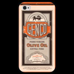 """Чехол для iPhone 4 глянцевый, с полной запечаткой """"Крестный отец / Godfather Genco"""" - godfather, крестный отец, kinoart, genco, дон корлеоне"""