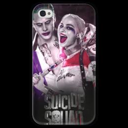 """Чехол для iPhone 4 глянцевый, с полной запечаткой """"Отряд самоубийц"""" - джокер, джаред лето, dc comics, suicide squad, марго робби"""