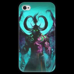 """Чехол для iPhone 4 глянцевый, с полной запечаткой """"WarCraft Collection: illidan"""" - wow, warcraft, world of warcraft, варкрафт, иллидан"""