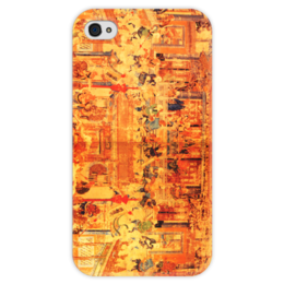 """Чехол для iPhone 4 глянцевый, с полной запечаткой """"Шаолинь"""" - единоборства, кунг фу, ушу, китайские, восточные"""