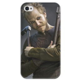 """Чехол для iPhone 4 глянцевый, с полной запечаткой """"Флоки Кораблестроитель"""" - история, викинг, викинги, vikings, путь воина"""