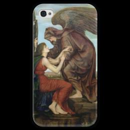 """Чехол для iPhone 4 глянцевый, с полной запечаткой """"Ангел Смерти (Эвелин де Морган)"""" - картина, морган"""