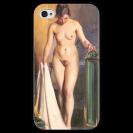 "Чехол для iPhone 4 глянцевый, с полной запечаткой ""In the Bedroom"" - картина, цорн"