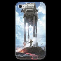 """Чехол для iPhone 4 глянцевый, с полной запечаткой """"Star Wars"""" - мультфильмы, star wars, звездные войны, включающая в себя кинофильмы, анимационные сериалы"""