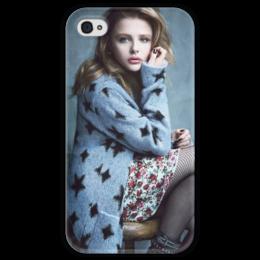 "Чехол для iPhone 4 глянцевый, с полной запечаткой ""Хлоя Грейс Морец"" - хлоя морец, chloe moretz"