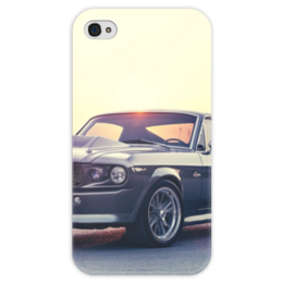 "Чехол для iPhone 4 глянцевый, с полной запечаткой ""ford mustang shelby gt500 eleanor 1967"" - мустанг, ford, mustang, ford mustang shelby gt500 eleanor 1967"