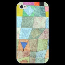 """Чехол для iPhone 4 глянцевый, с полной запечаткой """"Товарищеский матч"""" - картина, клее"""