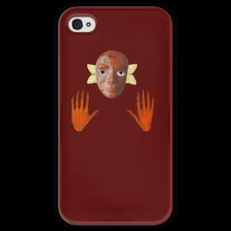 """Чехол для iPhone 4 глянцевый, с полной запечаткой """"Жизнь и смерть"""" - арт, коллаж, психоделия"""