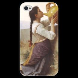 """Чехол для iPhone 4 глянцевый, с полной запечаткой """"Жажда (La Soif)"""" - картина, бугро"""