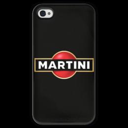 """Чехол для iPhone 4 глянцевый, с полной запечаткой """"Martini"""" - martini, мартини"""