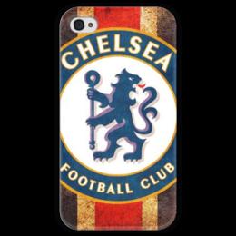 """Чехол для iPhone 4 глянцевый, с полной запечаткой """"Челси"""" - футбол, uk, челси, chelsea, футбольный клуб"""