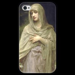 """Чехол для iPhone 4 глянцевый, с полной запечаткой """"Скромность (Modestie)"""" - картина, бугро"""