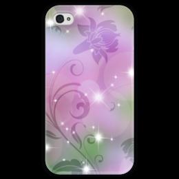 """Чехол для iPhone 4 глянцевый, с полной запечаткой """"Лилия"""" - цветок, лилия"""