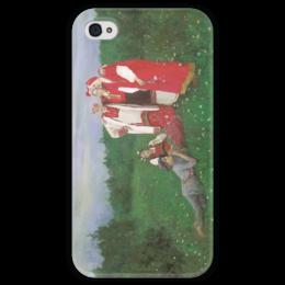 """Чехол для iPhone 4 глянцевый, с полной запечаткой """"Северная идиллия"""" - картина, коровин"""