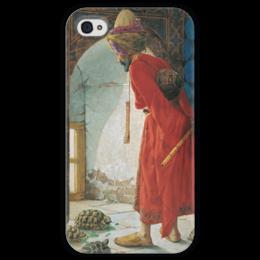 """Чехол для iPhone 4 глянцевый, с полной запечаткой """"Дрессировщик черепах"""" - картина, хамди"""