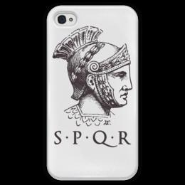 """Чехол для iPhone 4 глянцевый, с полной запечаткой """"Римская Империя"""" - история, путь воина, гесс, римская империя"""