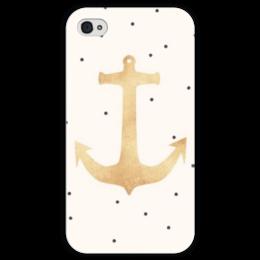 """Чехол для iPhone 4 глянцевый, с полной запечаткой """"Морской якорь"""" - якорь, anchor, sailor, морской"""