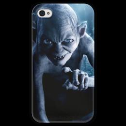 """Чехол для iPhone 4 глянцевый, с полной запечаткой """"Голлум"""" - кино, властелин колец, хоббит, прелесть, фродо"""