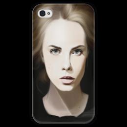 """Чехол для iPhone 4 глянцевый, с полной запечаткой """"Cara Delevingne, Кара Делевинь"""" - модель, cara delevingne, кара делевинь"""