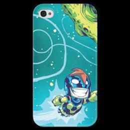 """Чехол для iPhone 4 глянцевый, с полной запечаткой """"Comics Art Series: Marvel"""" - рисунок, космос, супергерои, марвел, superhero"""
