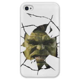 "Чехол для iPhone 4 глянцевый, с полной запечаткой ""Hulk / Халк"" - hulk, marvel, мстители, халк, kinoart"
