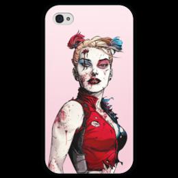 """Чехол для iPhone 4 глянцевый, с полной запечаткой """"Харли Квинн"""" - комиксы, джокер, бэтмен, harley quinn, dc comics"""