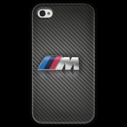 "Чехол для iPhone 4 глянцевый, с полной запечаткой ""BMW M Logo"" - car, bmw, m, bmwm, bmw m"