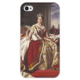 """Чехол для iPhone 4 глянцевый, с полной запечаткой """"Виктория (королева Великобритании)"""" - картина, винтерхальтер"""