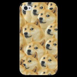"""Чехол для iPhone 4 глянцевый, с полной запечаткой """"Doge """" - doge, сиба-ину, доге, сиба"""