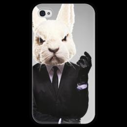 """Чехол для iPhone 4 глянцевый, с полной запечаткой """"Misfits (Rabbit)"""" - арт, приколы, отбросы, misfits, стиль, iphone, в подарок, сериал, кролик, чехол"""