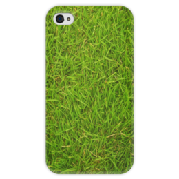 """Чехол для iPhone 4 глянцевый, с полной запечаткой """"Grass kit"""" - green, оригинально, трава, газон, grass"""