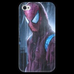 """Чехол для iPhone 4 глянцевый, с полной запечаткой """"Человек-паук (Spider-man)"""" - комиксы, spider-man, марвел, человек-паук, питер паркер"""