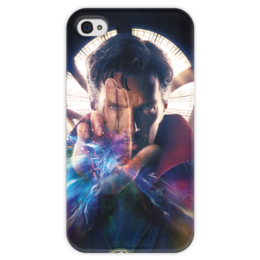 """Чехол для iPhone 4 глянцевый, с полной запечаткой """"Доктор Стрэндж"""" - доктор стрэндж, марвел, мстители, marvel, doctor strange"""