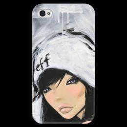 """Чехол для iPhone 4 глянцевый, с полной запечаткой """"Mimi Yoon Art #1"""" - девушки, красивый арт, mimi-yoon"""