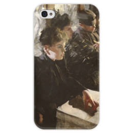 """Чехол для iPhone 4 глянцевый, с полной запечаткой """"Omnibus"""" - картина, цорн"""