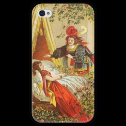 "Чехол для iPhone 4 глянцевый, с полной запечаткой ""Спящая красавица (сказка)"" - картина, лёйтеманн"
