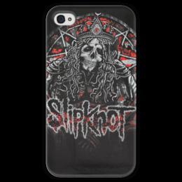 """Чехол для iPhone 4 глянцевый, с полной запечаткой """"Slipknot"""" - slipknot, метал"""