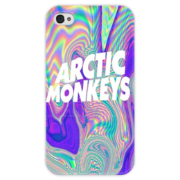 """Чехол для iPhone 4 глянцевый, с полной запечаткой """"Arctic Monkeys"""" - группа, arctic monkeys"""
