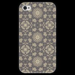 """Чехол для iPhone 4 глянцевый, с полной запечаткой """"Noisy"""" - арт, узор, абстракция, фигуры, текстура"""