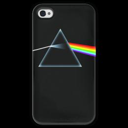 """Чехол для iPhone 4 глянцевый, с полной запечаткой """"Pink Floyd"""" - арт, rock, минимализм"""