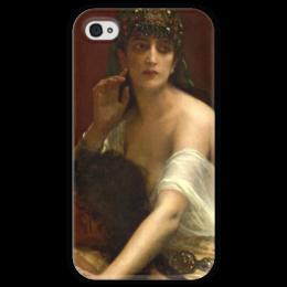 """Чехол для iPhone 4 глянцевый, с полной запечаткой """"Самсон и Далила (картина Кабанеля)"""" - картина, кабанель"""