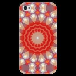 """Чехол для iPhone 4 глянцевый, с полной запечаткой """"Sihaya"""" - арт, узор, абстракция, текстура"""