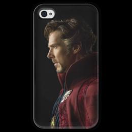 """Чехол для iPhone 4 глянцевый, с полной запечаткой """"Доктор Стрэндж"""" - marvel, мстители, марвел, доктор стрэндж, doctor strange"""