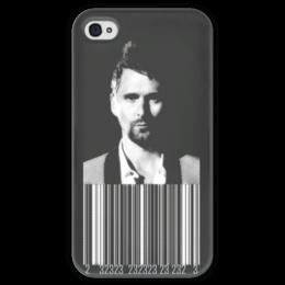 """Чехол для iPhone 4 глянцевый, с полной запечаткой """"Bellamy23"""" - 23, muse, matt bellamy, musers, drones"""
