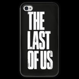 "Чехол для iPhone 4 глянцевый, с полной запечаткой ""The last of us"" - арт, зомби, the last of us, одни из нас"