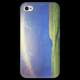 """Чехол для iPhone 4 глянцевый, с полной запечаткой """"Радуга (картина Архипа Куинджи)"""" - картина, архип куинджи"""