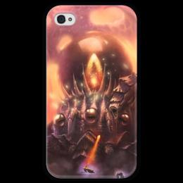 "Чехол для iPhone 4 глянцевый, с полной запечаткой ""К'Тун"" - hearthstone, близзард, хс, c'thun, хертстоун"