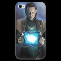 """Чехол для iPhone 4 глянцевый, с полной запечаткой """"Loki. Thor I"""" - рисунок, marvel, loki, локи, тор, thor"""