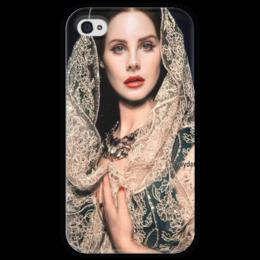 """Чехол для iPhone 4 глянцевый, с полной запечаткой """"Lana Del Rey"""" - lana del rey, lana, лана, лана дель рей"""