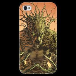 """Чехол для iPhone 4 глянцевый, с полной запечаткой """"Грут (Groot)"""" - комиксы, марвел, стражи галактики, грут, guardians of the galaxy"""
